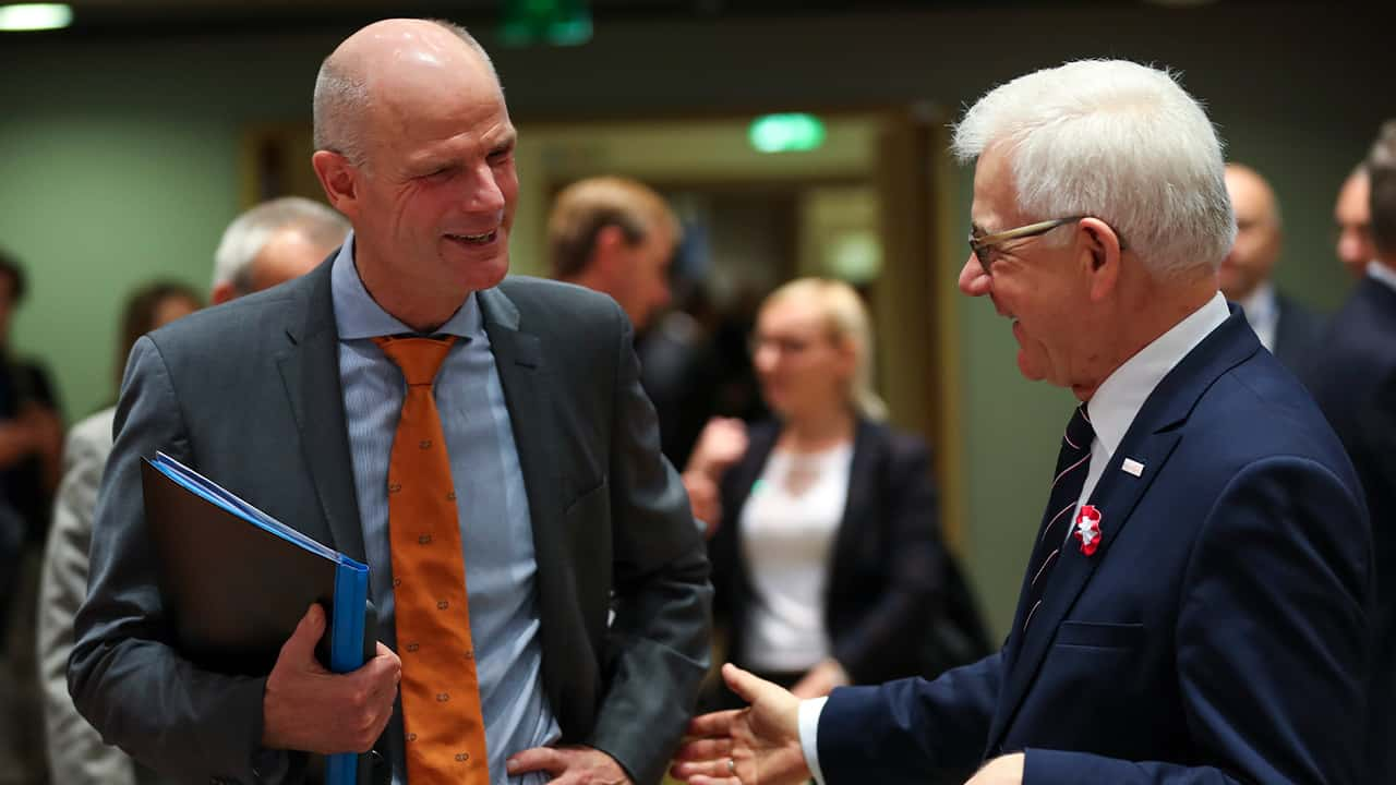 Photo of Foreign Minster Stef Blok and Foreign Minster Jacek Czaputowicz