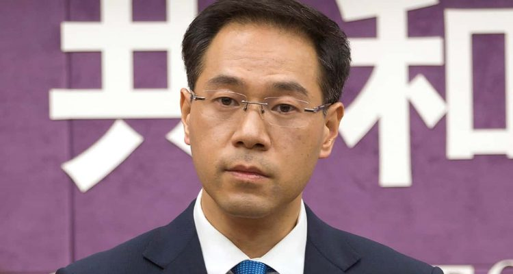 Photo of Chinese Ministry of Commerce spokesman Gao Feng