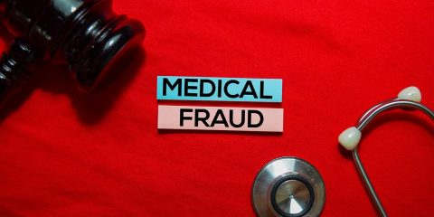 composite photo signifying medical fraud