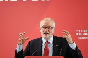 Photo of Britai's Labour Party leader Jeremy Corbyn