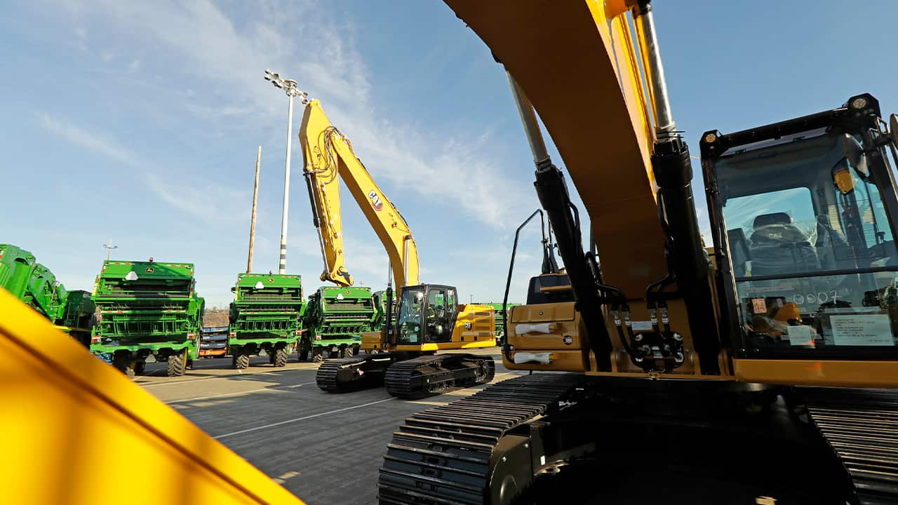 Photo of John Deere construction equipment