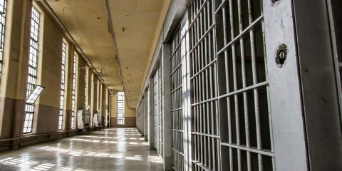 Photo of a prison hall and cells