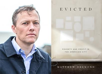 "Author Matthew Demond and his book ""Evicted"""