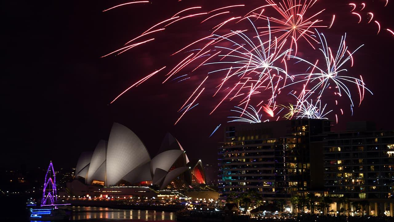 Photo of fireworks in Australia