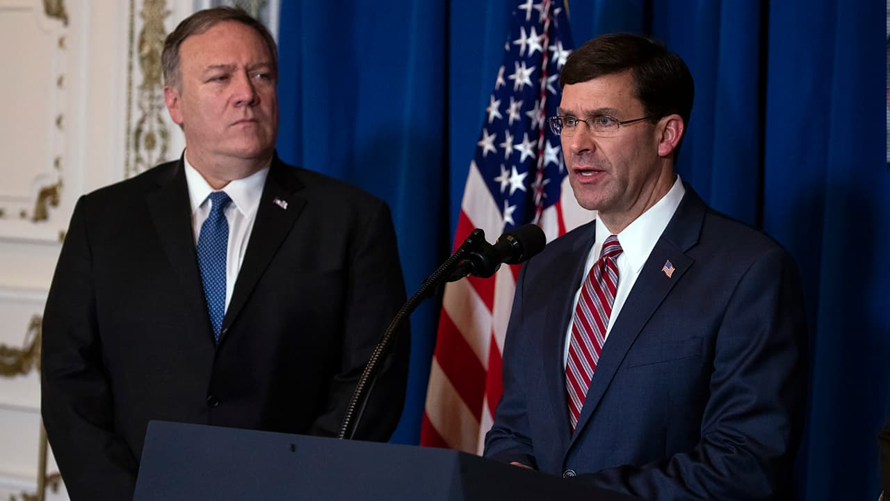 Photo of Secretary of State Mike Pompeo and Secretary of Defense Mark Esper