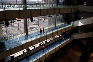 Photo of people visiting the Newseum in Washington
