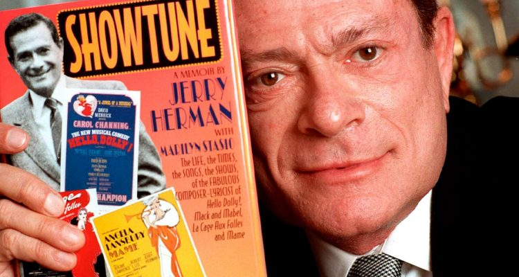 "Photo of Jerry Herman with his book, ""Showtune"""