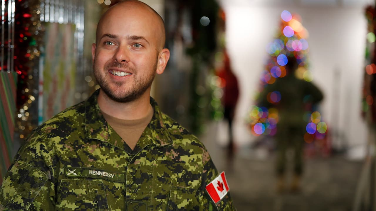 Photo of Canadian Armed Forces Major Andrew Hennessy, of Armstrong, B.C.