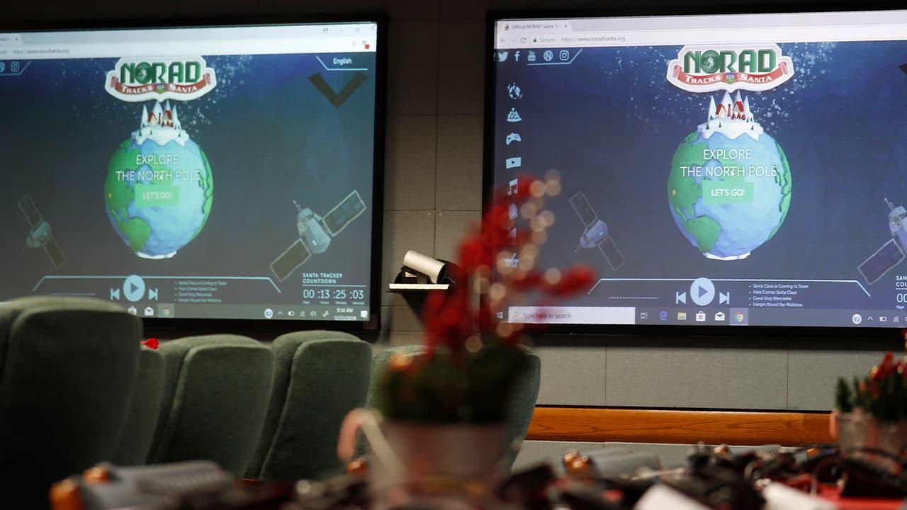 Photo of NORAD monitors