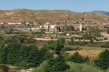 Photo of an oil field along HW 101