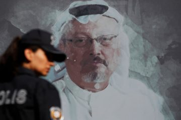 Photo of a picture of Jamal Khashoggi