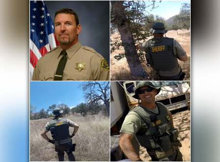 Four pictures of Sgt. Rod Lucas