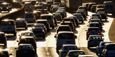 Photo of rush hour traffic in LA