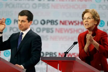 Photo of Pete Buttigieg and Elizabeth Warren
