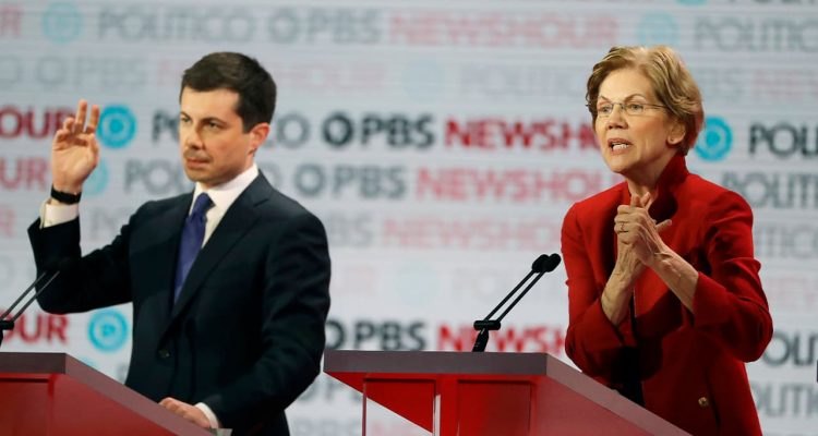 Photo of Pete Buttigieg and Elizabeth Warren