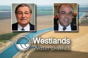 Composite image of Don Peracchi, Daniel Errotabere and the Westlands Water District logo