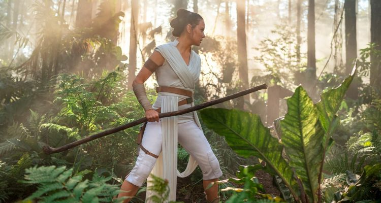 "Photo of Daisy Ridley as Rey in ""Star Wars: The Rise of Skywalker"""