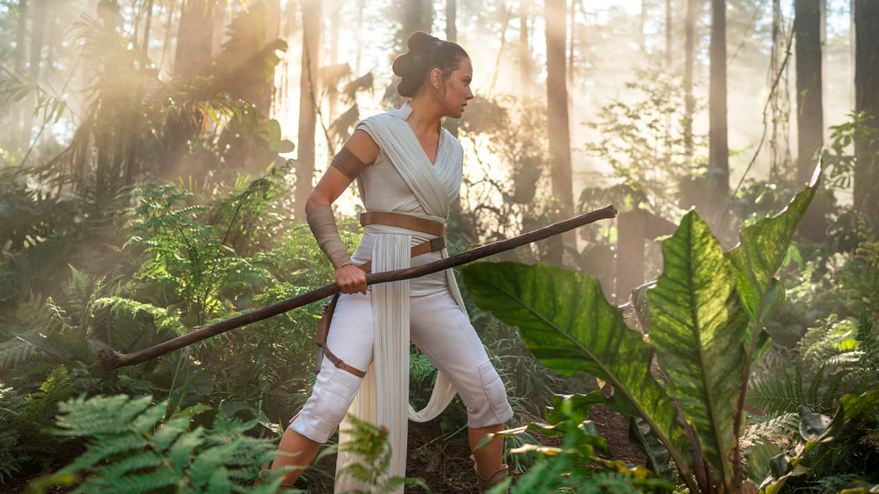 """Photo of Daisy Ridley as Rey in """"Star Wars: The Rise of Skywalker"""""""