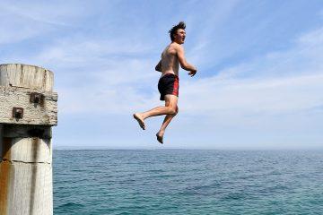 Photo of a swimmer in Australia