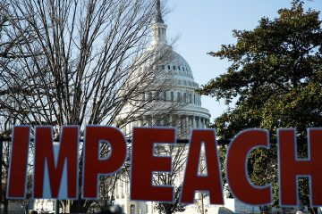Photo of an IMPEACH sign