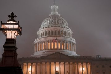 Photo of the U.S. Capitol in Washington is shrouded in mist