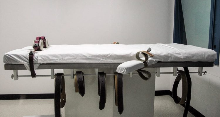 Photo of a lethal injection chamber in Nebraska