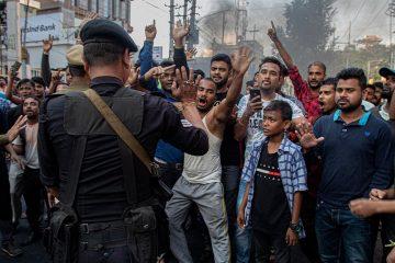 Photo of protestors in Gauhati, India