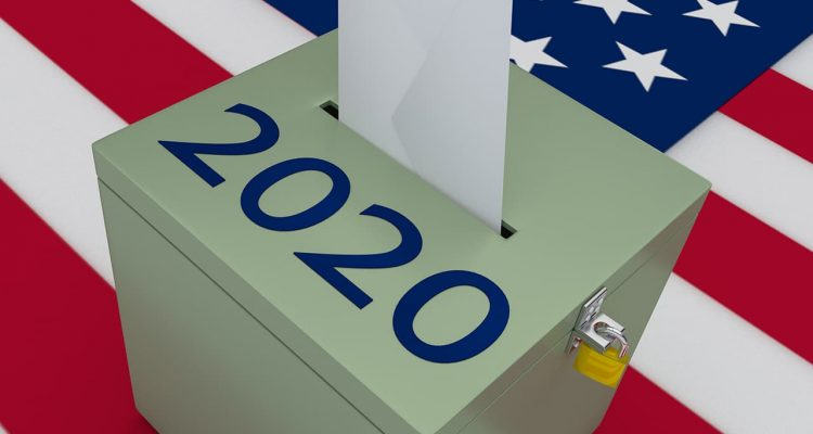 Photo of a 2020 ballot box