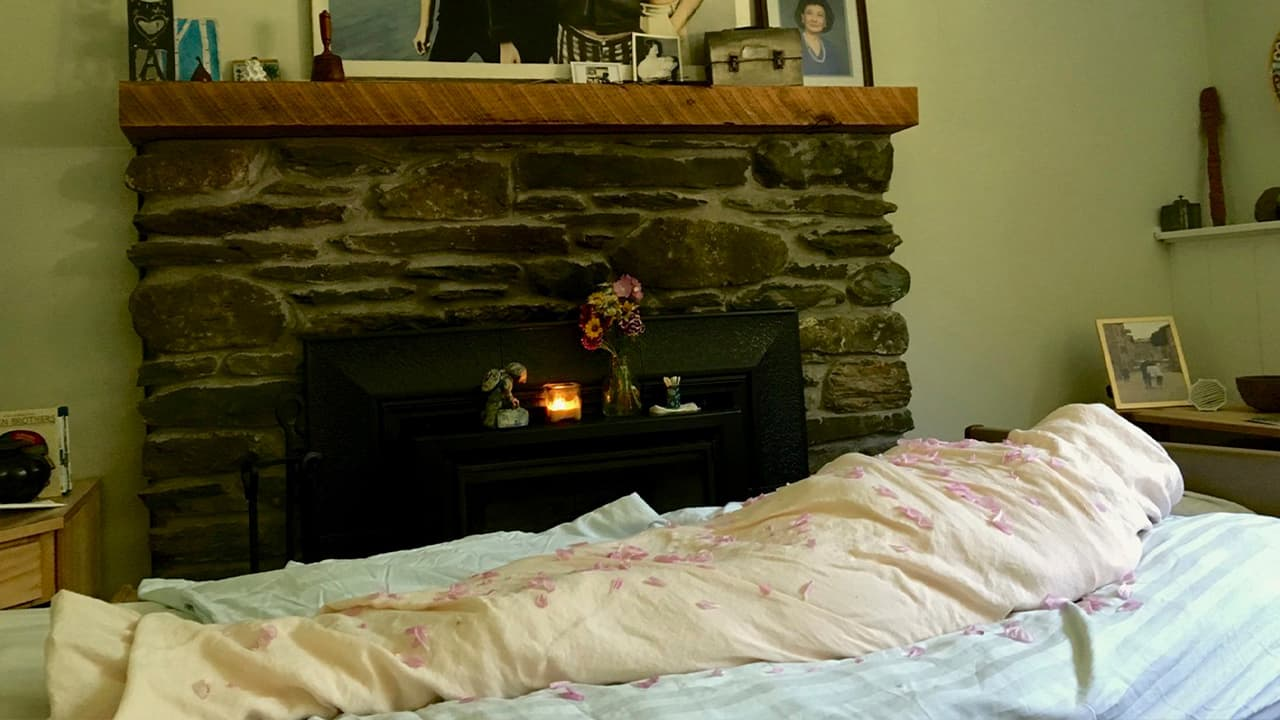 Photo of Kathryne Beach shrouded inside her family's home following her death in Hinesburg, Vt.