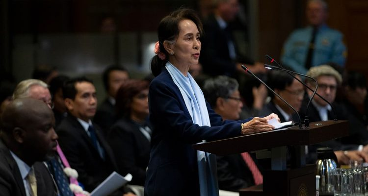 Photo of Myanmar's leader Aung San Suu Kyi