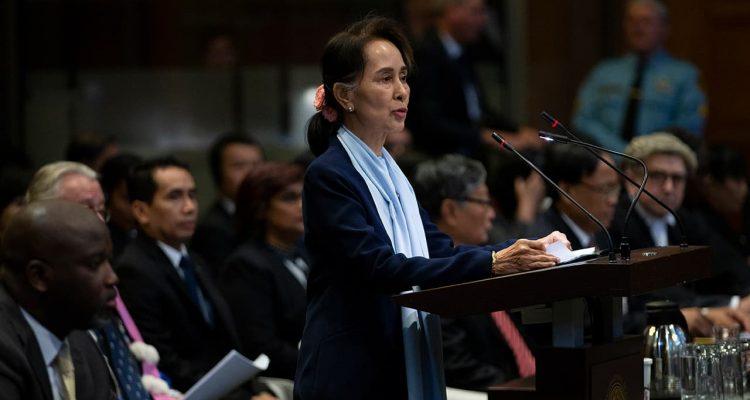 Photo of Myanmar's leader Aung San Suu Kyi