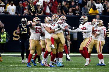Photo of 49ers celebrating