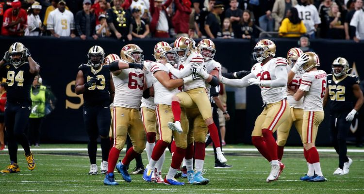 Photo of 49ers celebrating