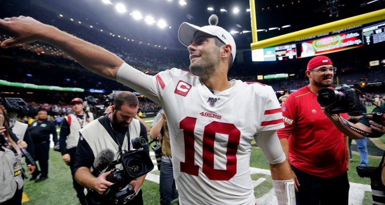 Photo of San Francisco 49ers quarterback Jimmy Garoppolo