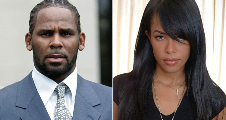 Photo combination of R. Kelly and Aaliyah