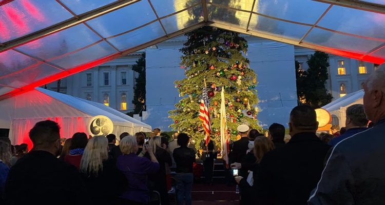 Photo of State Capitol lighting ceremony