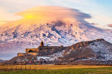 Photo of sunset in Armenia