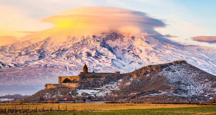 Photo of sunset in Armenia