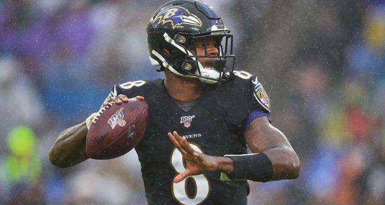Photo of Baltimore Ravens quarterback Lamar Jackson