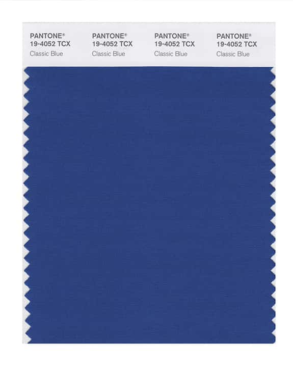 Photo of a classic blue color swatch