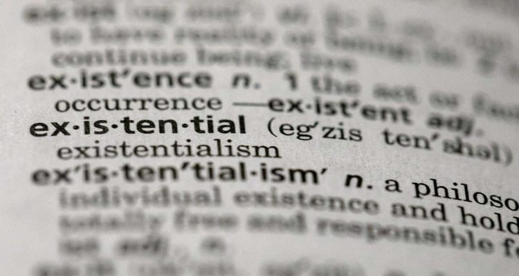 """Photo of the word """"existential"""" in a dictionary in the Brooklyn borough of New York"""