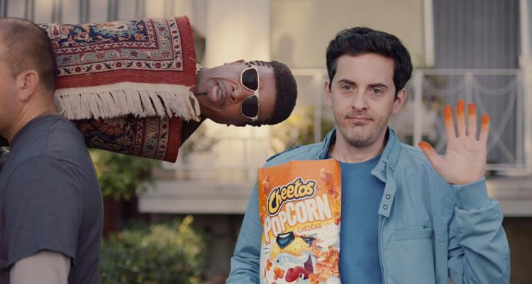 Photo of a scene from Cheetos' 2020 Super Bowl NFL football spot