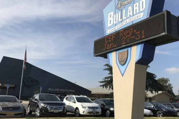 Photo of Bullard High School in Fresno, Ca.