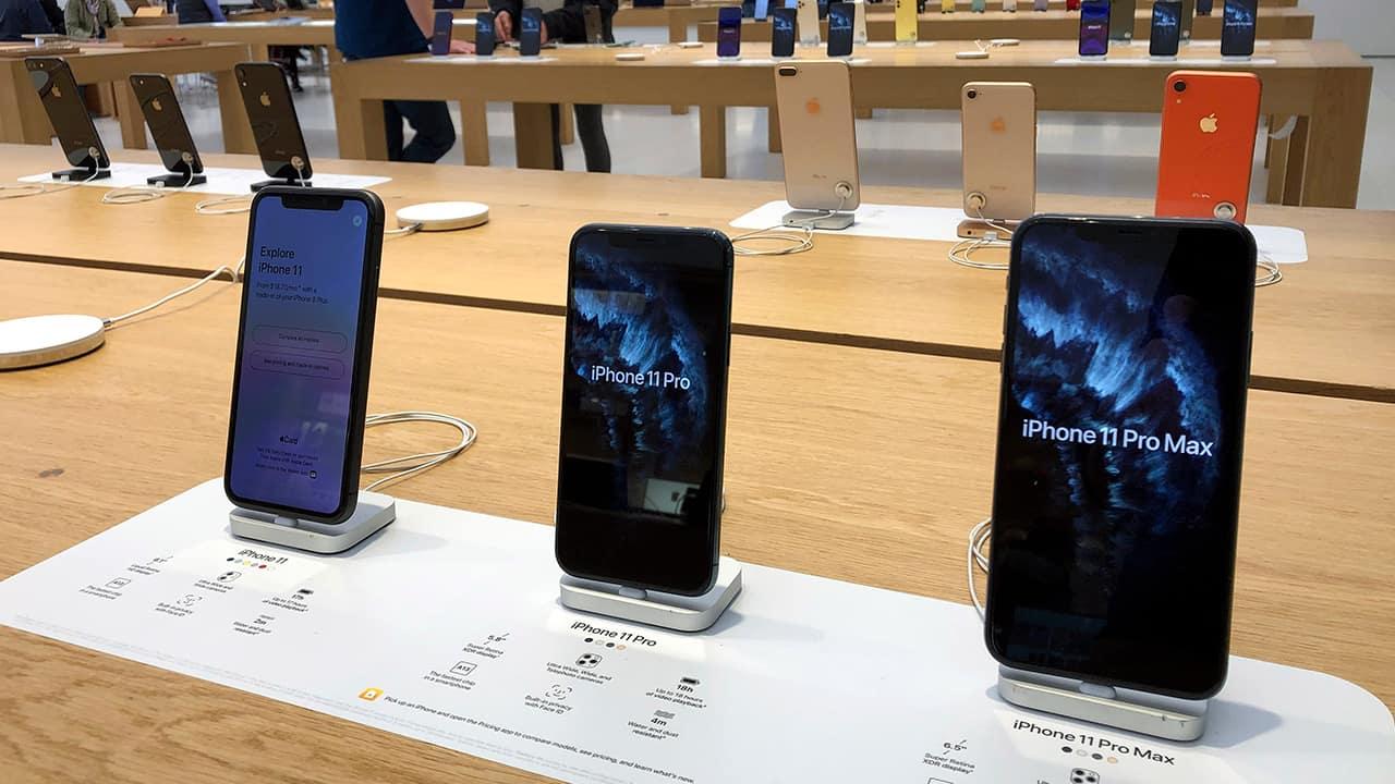 Photo of iPhones
