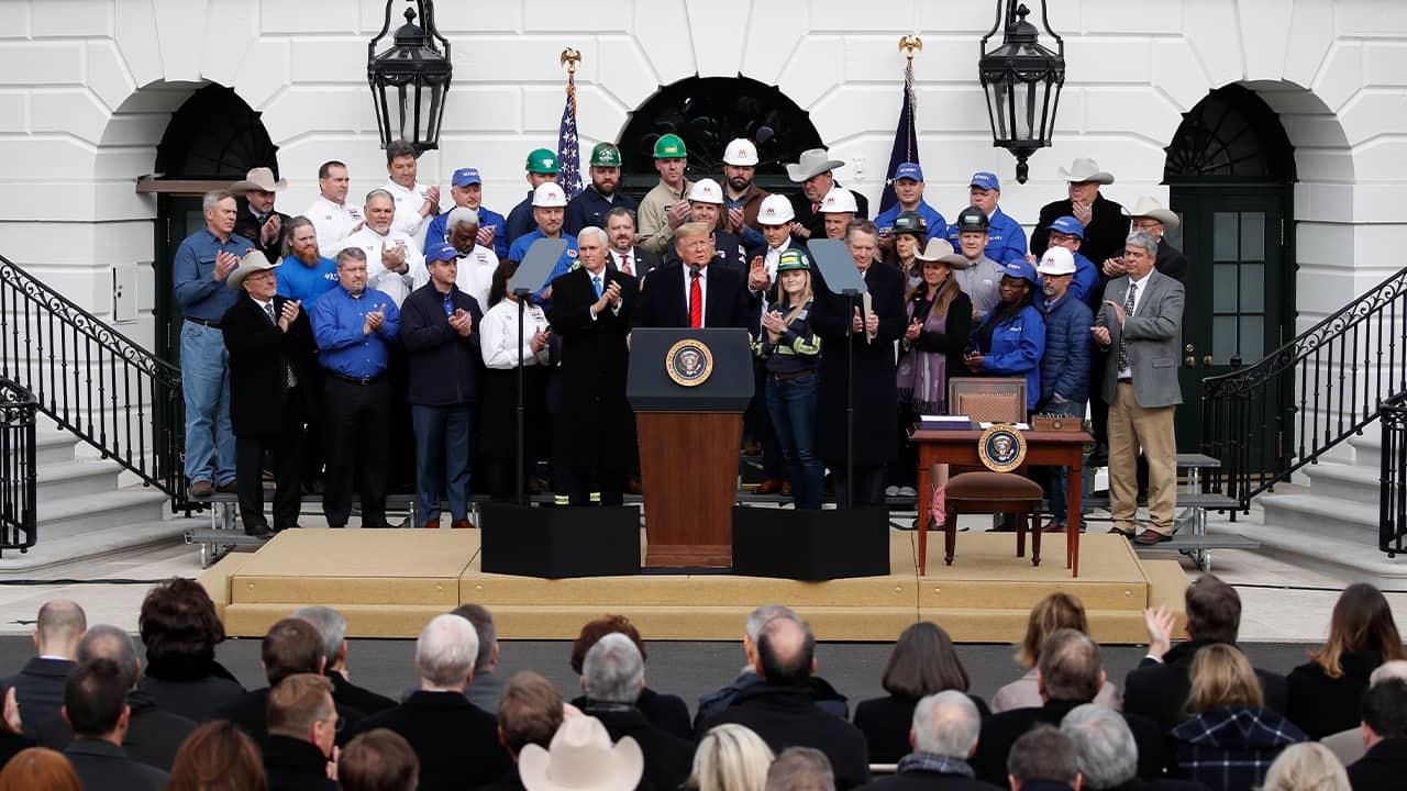Photo of President Donald Trump speaking