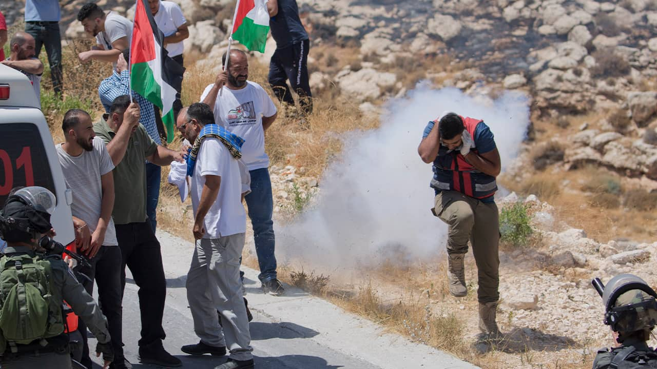 Photo of Palestinian protesters