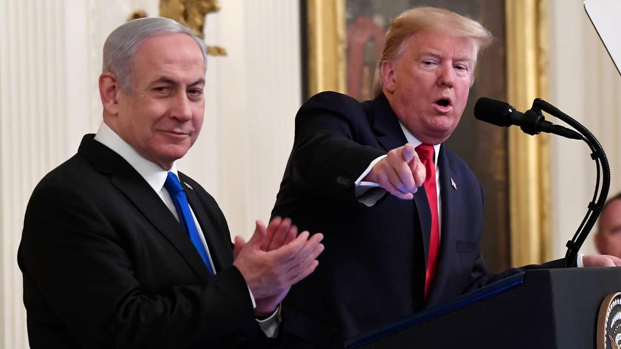 Photo of President Donald Trump and Israeli Prime Minister Benjamin Netanyahu