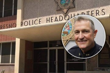 Photo combination of Fresno Police Headquarters and Fresno Police Chief Andy Hall