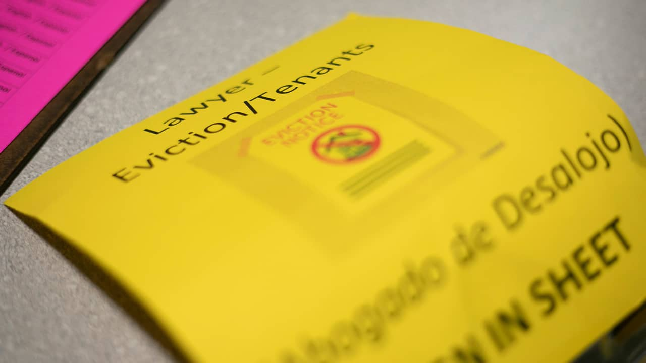 Photo of a yellow sign-in sheet