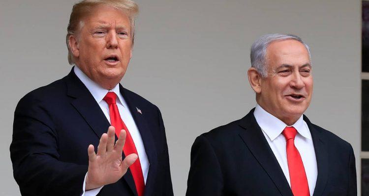 Photo of President Donald Trump and Prime Minister Benjamin Netanyahu
